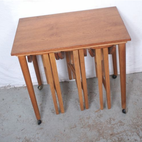 featured finds Mid-Century Modern Trolley Table w:Nest Of Tables : Stool.png