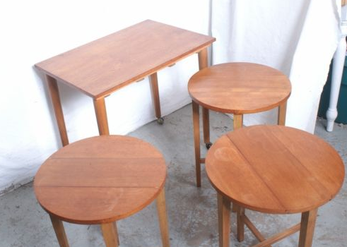 featured finds Mid-Century Modern Trolley Table w:Nest Of Tables : Stool_2.png